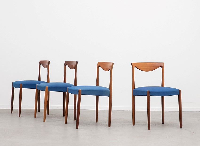 Lubke 4 X Teak Chairs 60s   3