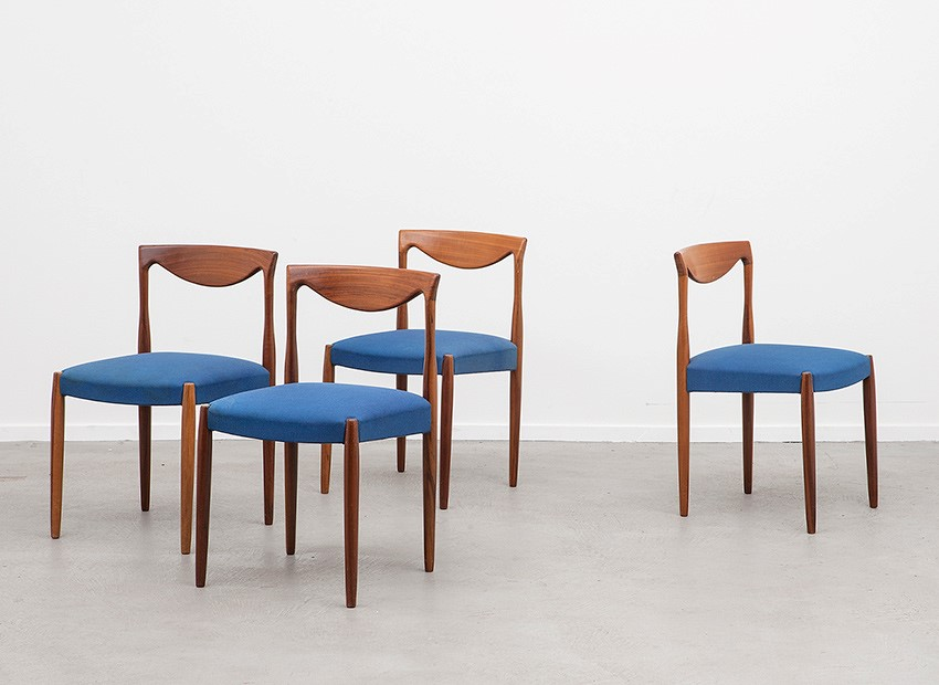 Lubke 4 X Teak Chairs 60s   5