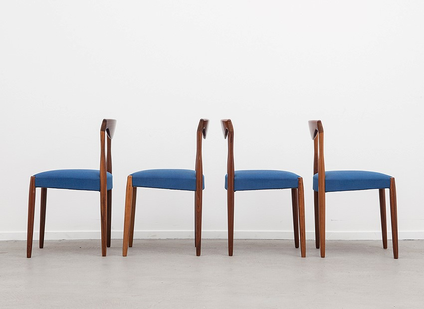 Lubke 4 X Teak Chairs 60s   6
