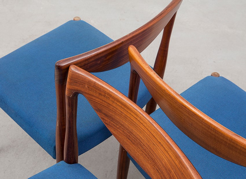 Lubke 4 X Teak Chairs 60s   7