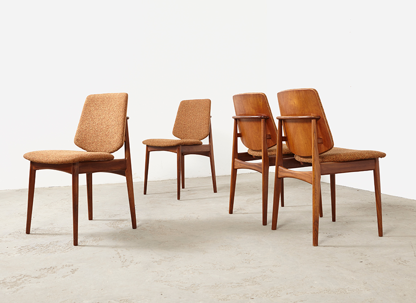 Set of 4 Mahjongg Teak Dining Chairs 1960s