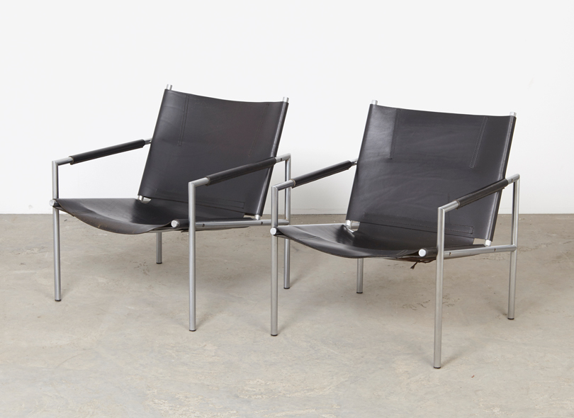 SOLD Martin Visser Pair of SZ02 Lounge Chairs 't Spectrum 1965