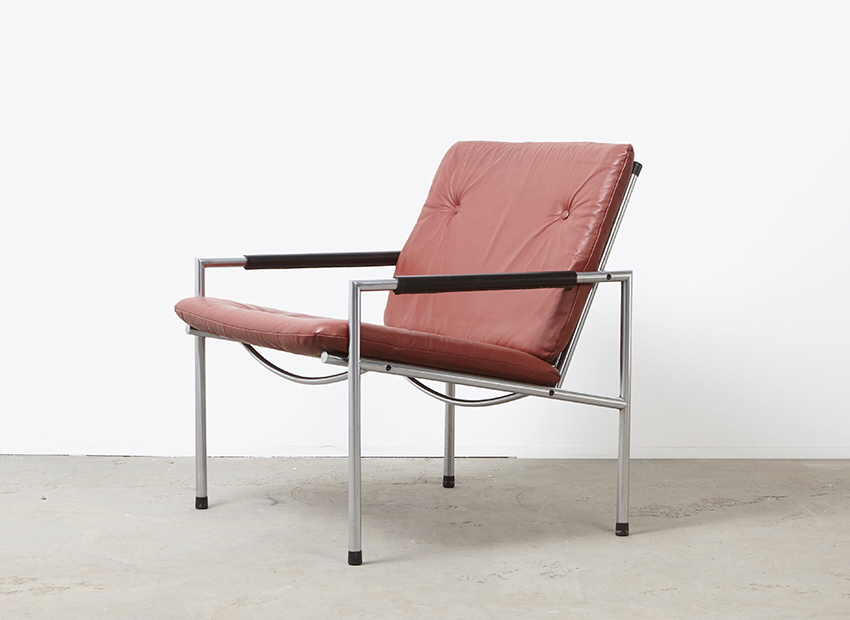 Martin Visser SZ03 Leather Lounge Chair 't Spectrum 1968