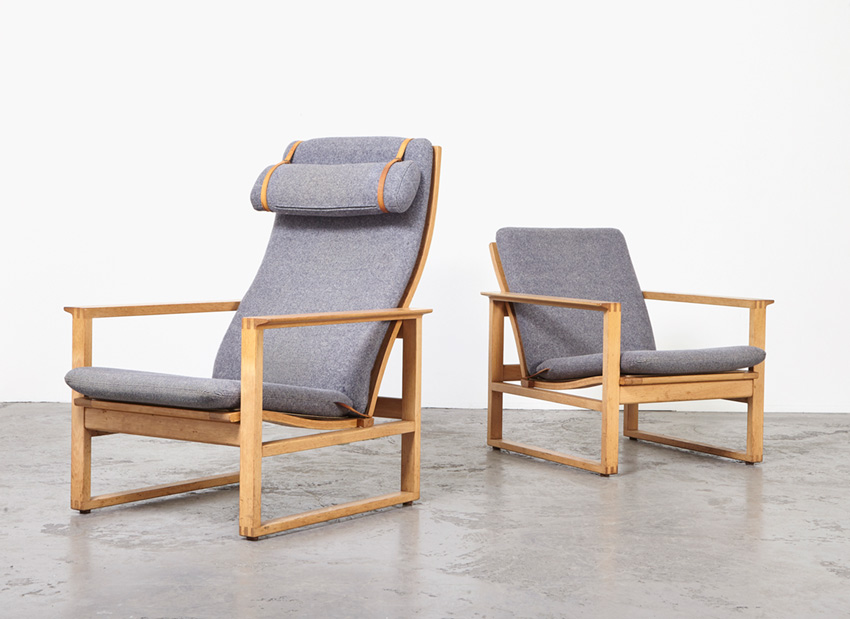 SOLD Borge Mogensen Pair of Lounge Chairs Frederica 1950s