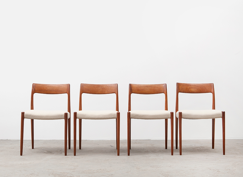 N.O.Moller 4x Chairs J.L.Mollers 1