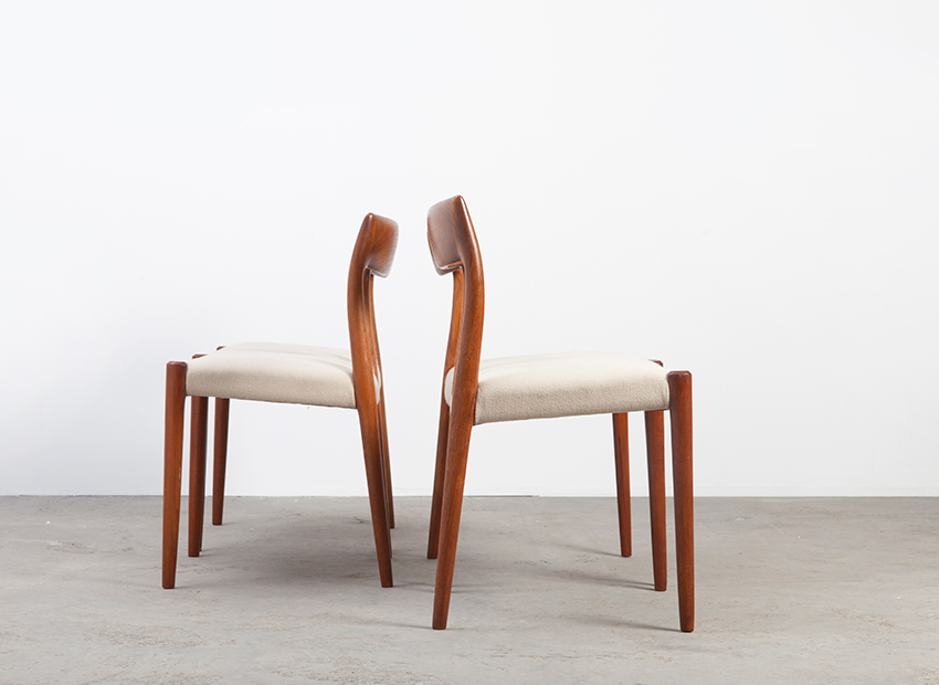 N.O.Moller 4x Chairs J.L.Mollers 2