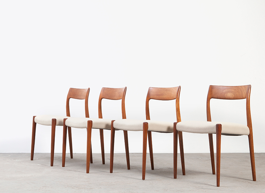 N.O.Moller 4x Chairs J.L.Mollers 4