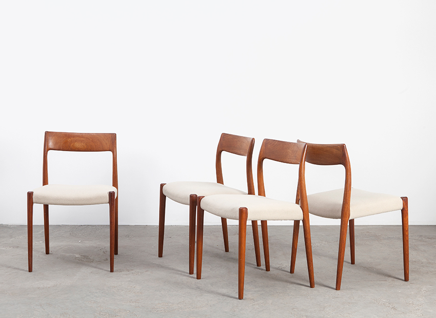 N.O.Moller 4x Chairs J.L.Mollers 5