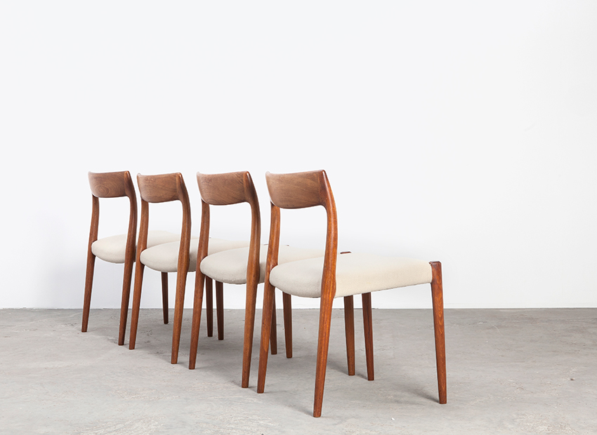 N.O.Moller 4x Chairs J.L.Mollers 6
