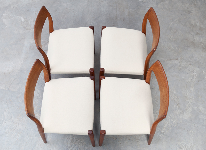 N.O.Moller 4x Chairs J.L.Mollers 9
