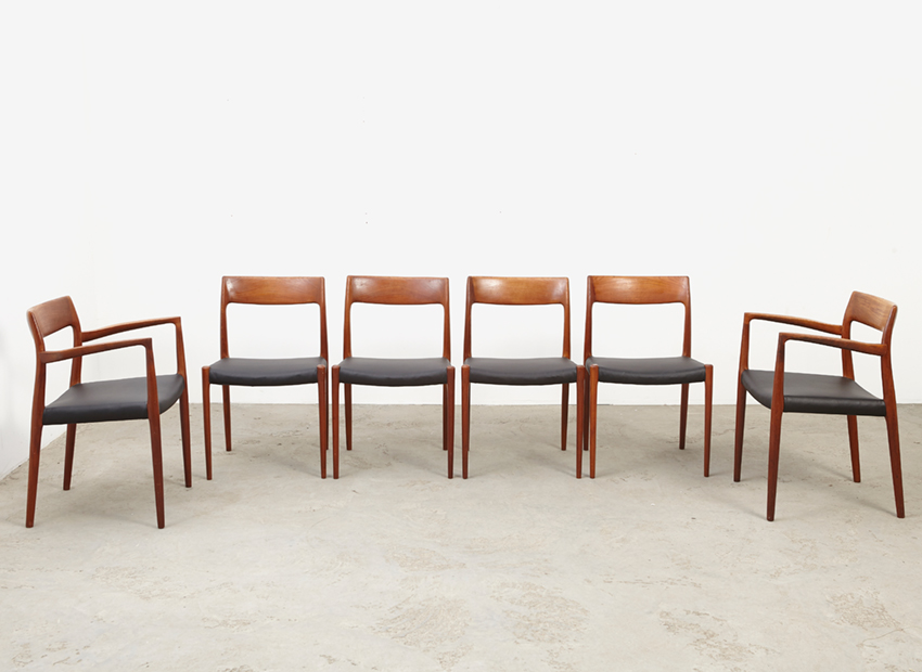 N.O.Moller SetOf6DiningChairs 3