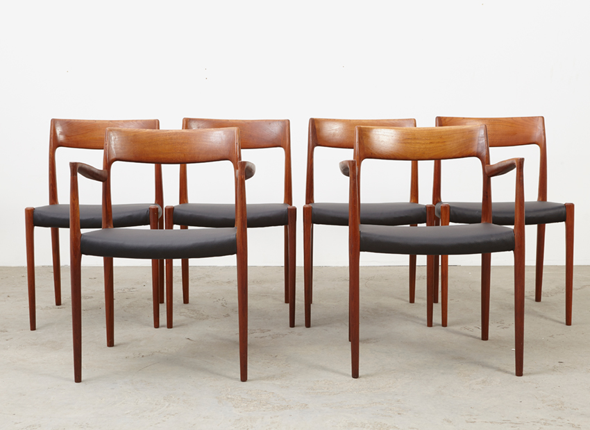 N.O.Moller SetOf6DiningChairs 4