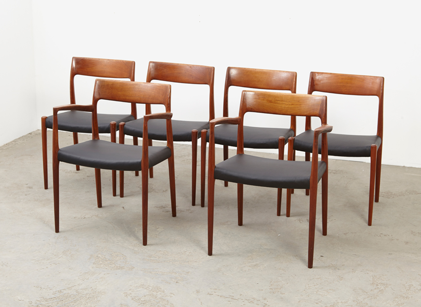 N.O.Moller SetOf6DiningChairs 5