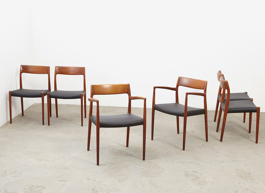 N.O.Moller SetOf6DiningChairs 6