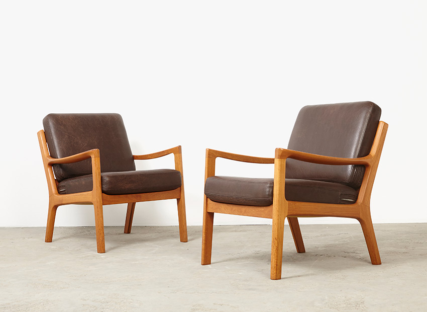 SOLD Ole Wanscher Pair of Easy Chairs Senator Series Cado 1951