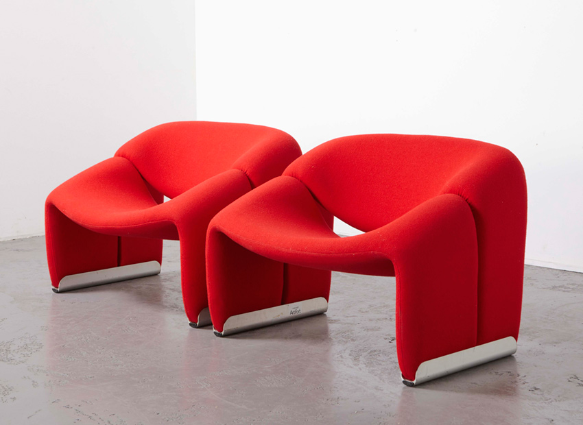 SOLD Pierre Paulin Pair of M-Chairs Artifort 1972