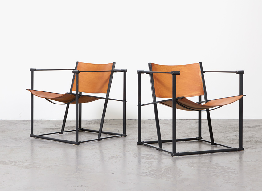 Radboud van Beekum Pair of FM61 Cubic Chairs Pastoe 1980