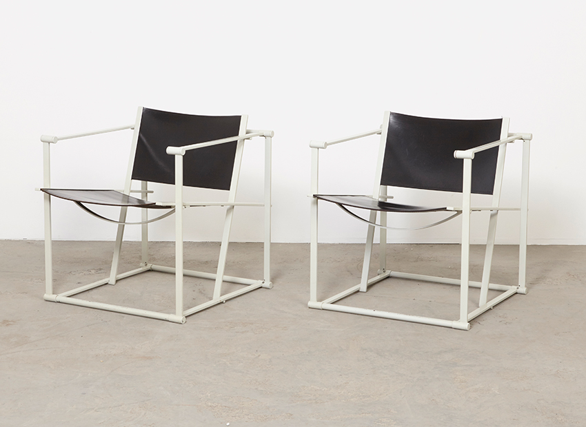 SOLD Radboud van Beekum Pair of FM61 Easy Chairs Pastoe 1980