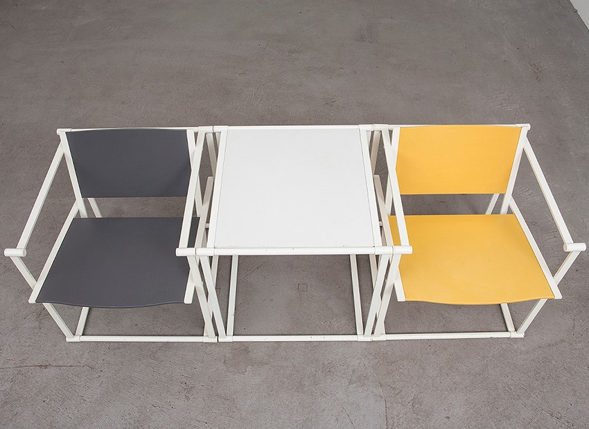 Radboud Van Beekum 2 X Wooden Easy Chair FM60 Table TM61 Pastoe 1980 6
