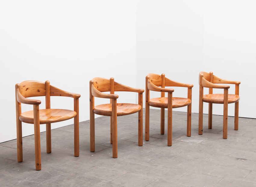 SOLD Rainer Daumiller Set of 4 Dining Chairs Hirtshalls Sawmills Danmark 1960