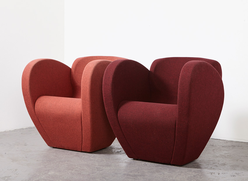 SOLD Ron Arad Pair of Size Ten Easy Chairs Moroso 1994