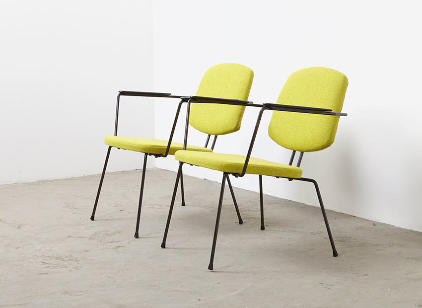 Rudolf Wolf A Pair of Lounge Chairs for Elsrijk 1950s