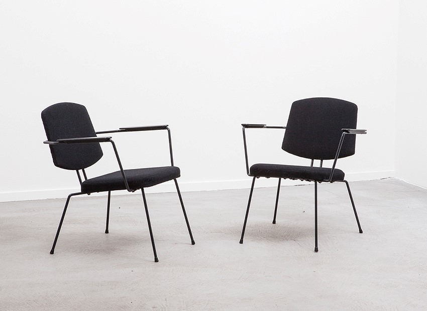 SOLD Rudolf Wolf 2 X Easy Chairs Elsrijk 50s