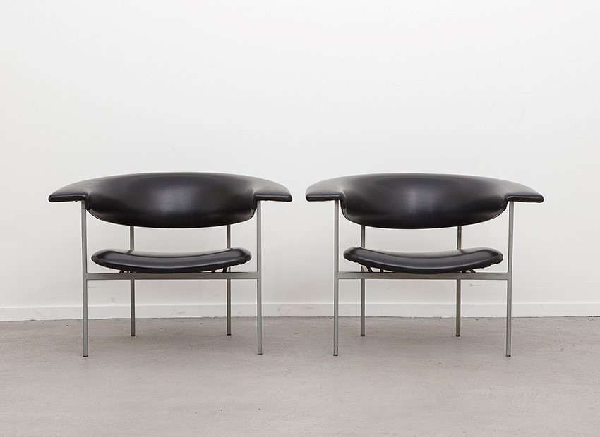SOLD Rudolf Wolf 2 X Easy Chairs Gamma Series Gaasbeek Van Tiel 60s