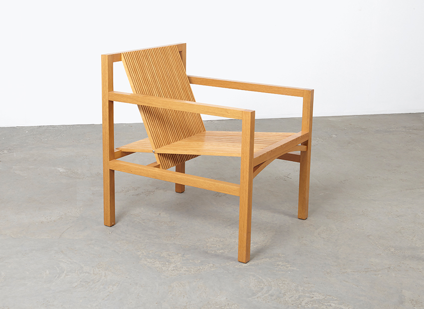 SOLD Ruud Jan Kokke Slat Easy Chair Metaform 1980s