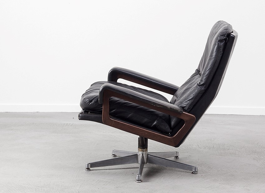 Strassle King Chair Andre Vandenbeuck Switzerland 60s 1