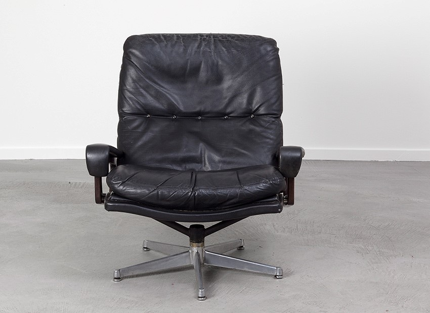 SOLD Strassle King Chair Andre Vandenbeuck Switzerland 60s
