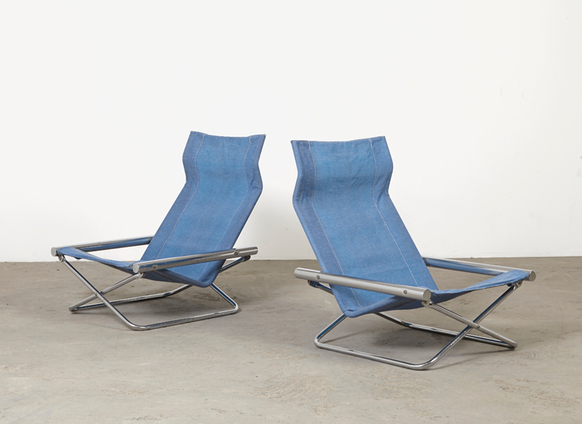 SOLD Takeshi Nii Pair of NY Lounge Chairs Japan 1958
