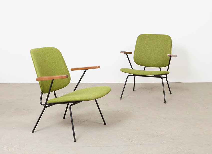 W.H. Gispen A Pair of Lounge Chairs Kembo 1950s