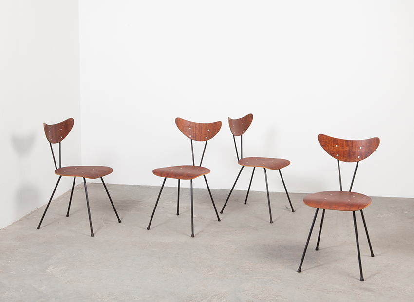 W.H.Gispen 4x Chairs Kembo 1