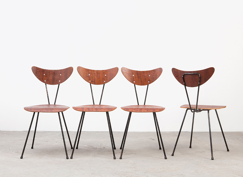 W.H.Gispen 4x Chairs Kembo 2