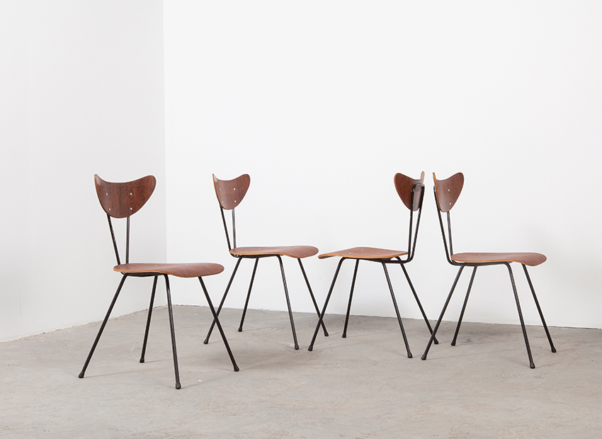 W.H.Gispen 4x Chairs Kembo 5