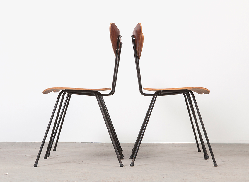 W.H.Gispen 4x Chairs Kembo 6