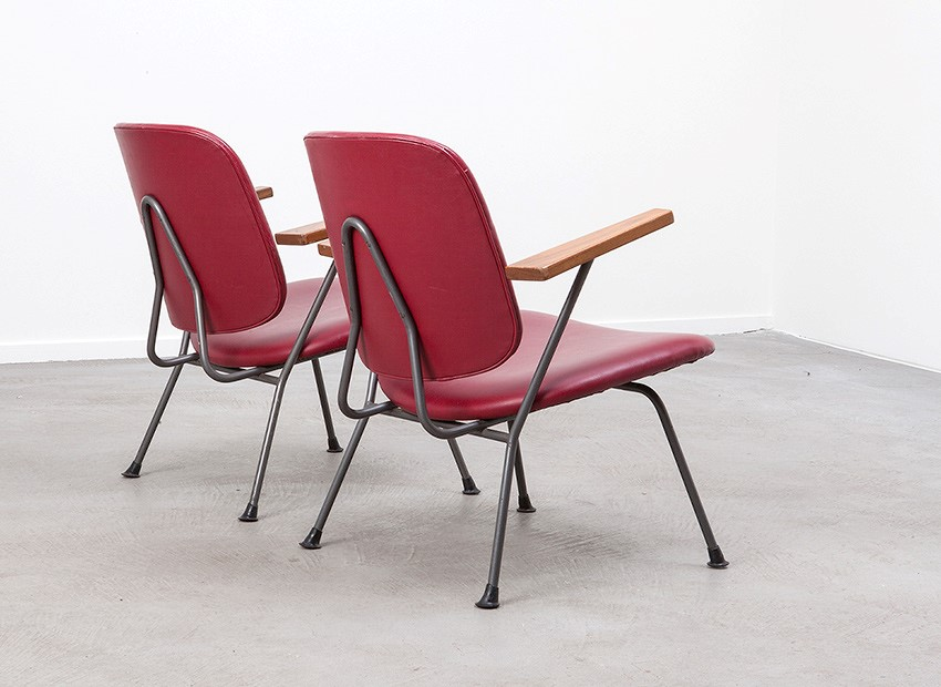 W.H. Gispen 2 X Easy Chairs Kembo 50s 4
