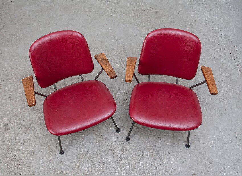 W.H. Gispen 2 X Easy Chairs Kembo 50s 7
