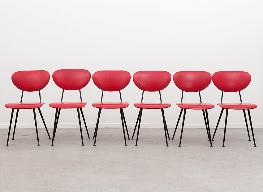 W.H. Gispen 6 X Kembo Chairs Kembo 50s 1