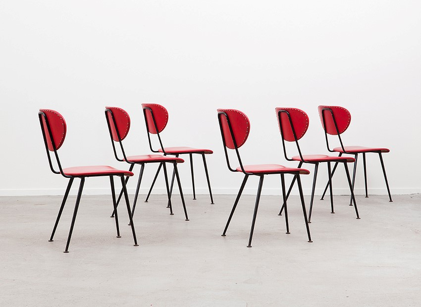 W.H. Gispen 6 X Kembo Chairs Kembo 50s 3