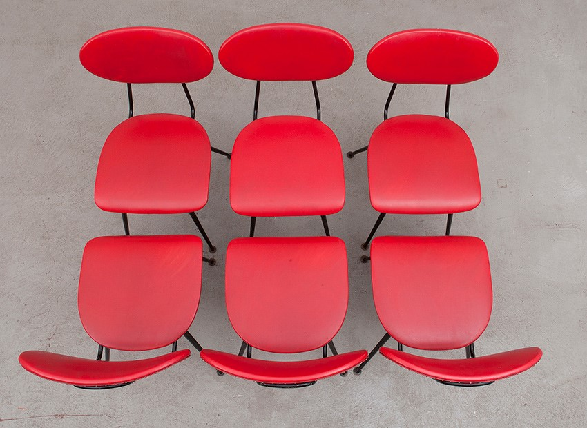 W.H. Gispen 6 X Kembo Chairs Kembo 50s 5