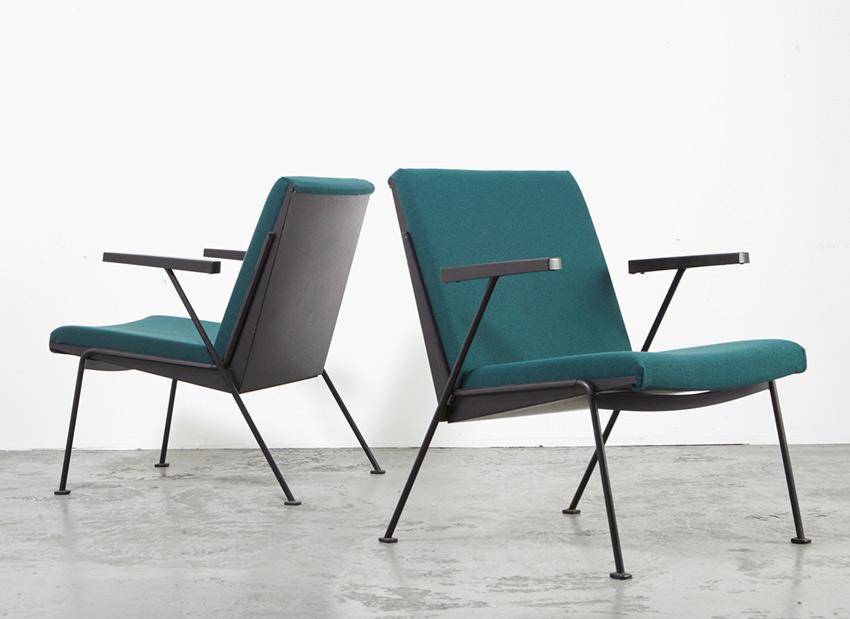 Wim Rietveld Pair of Oase Chairs Ahrend de Cirkel 1958