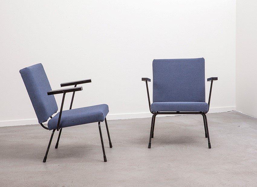 Wim Rietveld 2 X Easy Chairs 1401 Gispen 50s 2