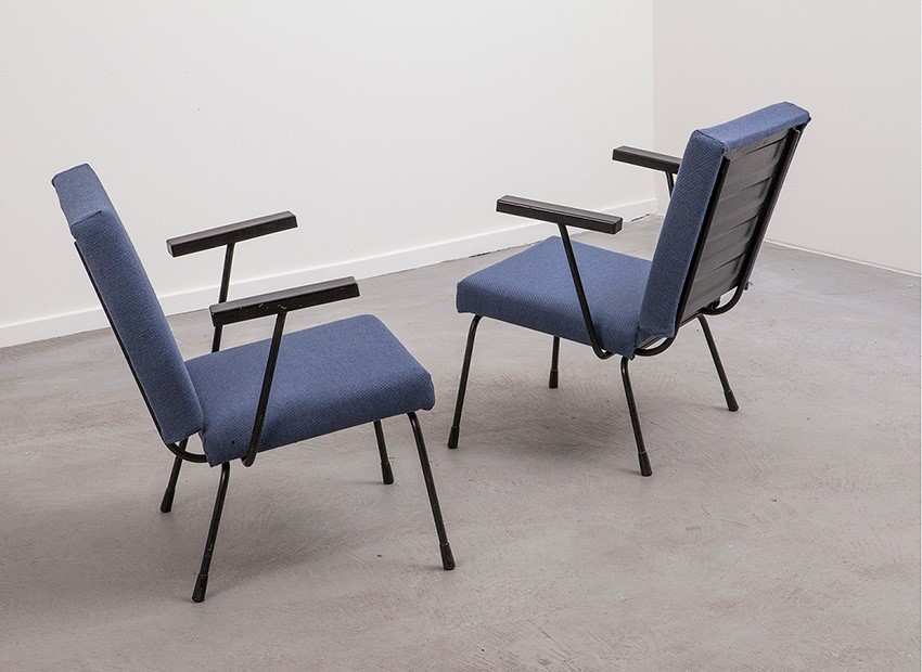 Wim Rietveld 2 X Easy Chairs 1401 Gispen 50s 4