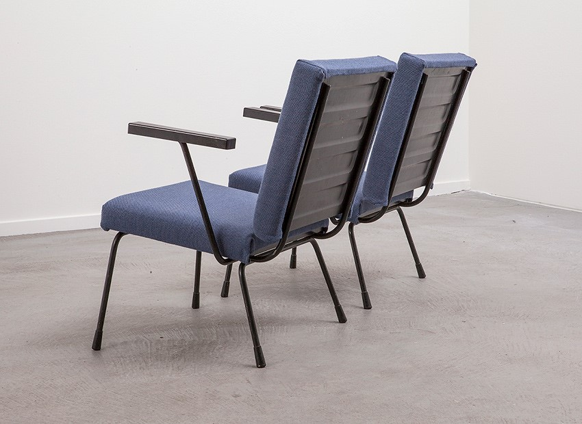 Wim Rietveld 2 X Easy Chairs 1401 Gispen 50s 5