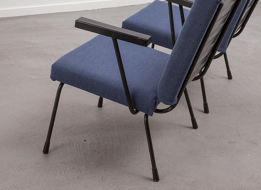 Wim Rietveld 2 X Easy Chairs 1401 Gispen 50s 6