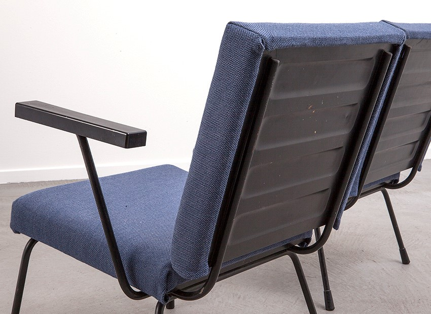 Wim Rietveld 2 X Easy Chairs 1401 Gispen 50s 7