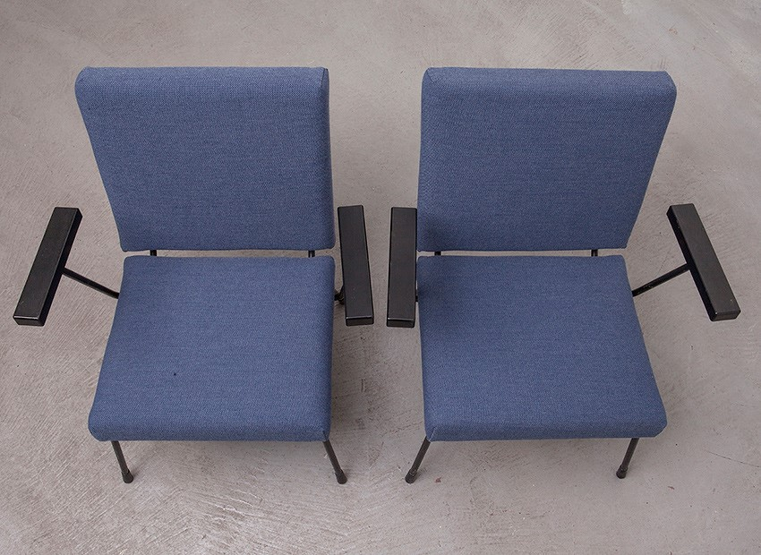 Wim Rietveld 2 X Easy Chairs 1401 Gispen 50s 8