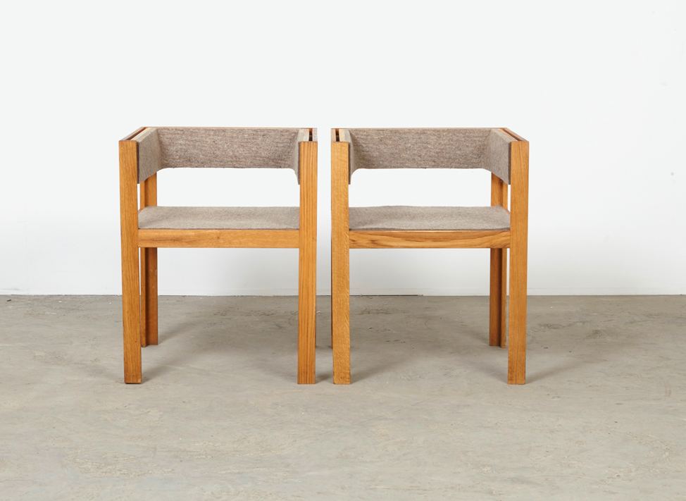 SOLD Yusuf Kho Pair of  Arm Chairs Houtwerk Hattem